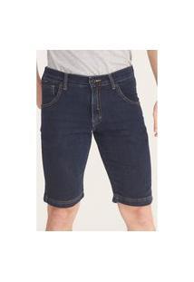 Bermuda Hd Jeans Slim Azul Escuro