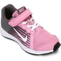 9e8da8d5e52a2 Zattini. Tênis Infantil Nike Downshifter 8 Feminino - Feminino-Rosa+Branco