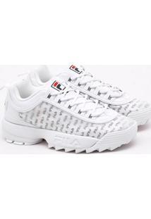 Tênis Fila Disruptor Ii Clear Logos Branco Feminino 36