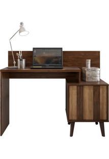 Mesa Para Computador Escrivaninha Dusk Havana/Buriti - Caemmun - Tricae