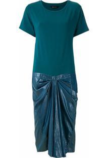 Uma | Raquel Davidowicz Vestido Rose Com Pregas - Azul