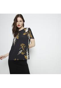 Camiseta Texturizada- Preta & Amarelo Escuro- Forumforum
