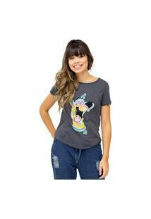 Camiseta Sideway Scooby-Doo Tie Dye - Preta