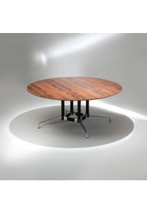 Mesa De Jantar Segmentada 4 Colunas Alumínio Polido E Aço Pintura Preta Studio Mais Design By Charles E Ray Eames