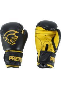 Luvas De Boxe Pretorian First - 14 Oz - Adulto - Preto/Amarelo