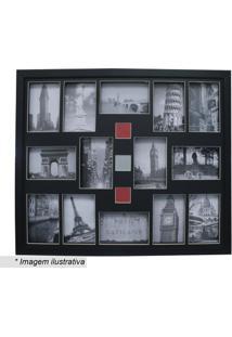 Painel Para 14 Fotos- Preto- 54X64X3Cm- Kaposkapos