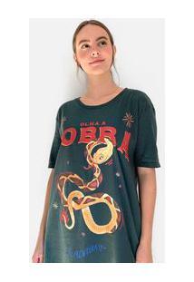 Camiseta Ampla Silk Olha A Cobra