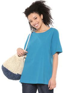 Camiseta Cantão Oversized Azul
