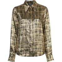 Farfetch. Rochas Camisa Xadrez - Amarelo 9905fbd6c5fb3