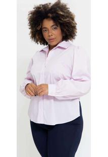 Camisa Ampla Almaria Plus Size Pianeta Fenda Later