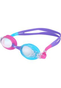 Óculos De Natação Speedo Quick Ii - Infantil - Rosa/Roxo