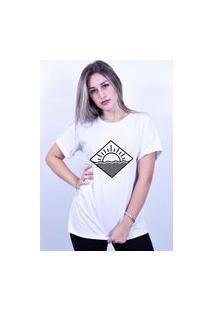 Camiseta Corte A Fio Bilhan Surf Praia Branca