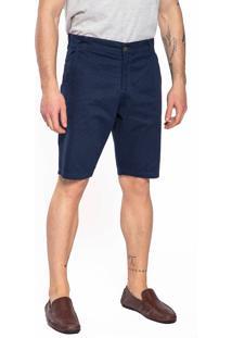 Bermuda Sarja Aero Jeans Azul Marinho