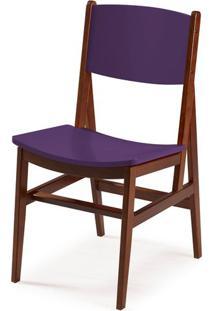 Cadeira Dumon Cor Cacau Com Roxo - 30788 - Sun House