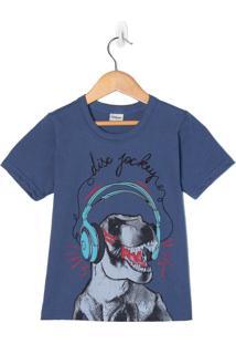 Camiseta Infantil Rovitex Azul - 4