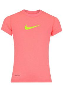 Camiseta Nike Ledgend - Feminina Infantil - Rosa Claro