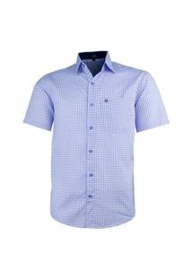 Camisa Social Lbl Xadrez 3003 Azul Bebê