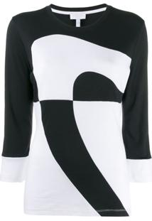 Escada Sport Two-Tone Knit Jumper - Preto