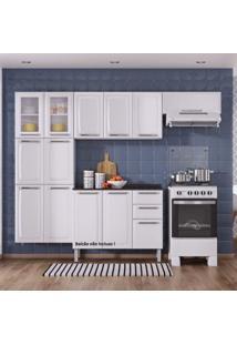 Cozinha Compacta 3 Peças Com 2 Portas De Vidro Sem Balcão Luce 2018 Itatiaia Branco