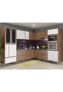 Cozinha Completa Multimã³Veis Com 9 Peã§As Calã¡Bria 5461Mf Nogueira/Branco - Incolor - Dafiti