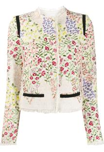 Giambattista Valli Jaqueta Gilly Flowers - Branco