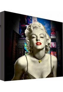 Quadro Impressão Digital Merilyn Monroe Colorido 30X30Cm Uniart