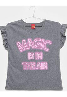Blusa Infantil Kyly Magic Babado - Feminino