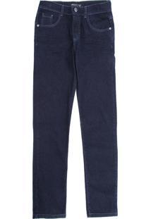 Calça Jeans Mania Kids Infantil Lisa Azul