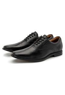 Sapato Social Masculino Parma Em Couro Comfort Seratto Preto