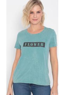 "Camiseta ""Flower""- Verde & Preta- Malweemalwee"
