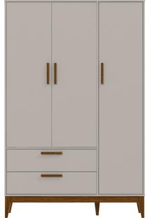 Roupeiro 3 Portas Nature Cinza E Eco Wood Matic