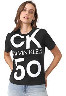 Camiseta Calvin Klein Jeans Modern 5050 Preta