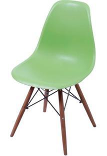 Cadeira Eames Polipropileno Verde Base Escura - 44834 - Sun House