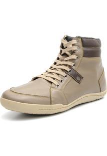 Bota Casual Numero Especial Shoes Grand Confortável Creme