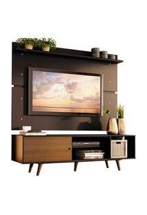 Rack Madesa Dubai E Painel Para Tv Até 65 Polegadas Com Pés Preto/Rustic D8D8 Cor:Preto/Rustic