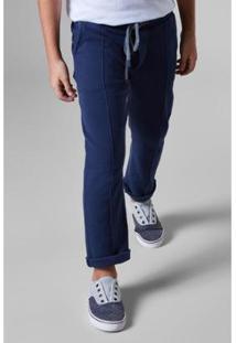 Calça Infantil De Moletom Basica Reserva Mini Masculina - Masculino-Azul Escuro