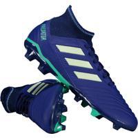 Chuteira Adidas Predator 18.3 Fg Campo Azul cc5b1093b8072