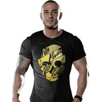 f043b6aabd Camiseta Academia No Pain No Gain Gold Skull - Masculino
