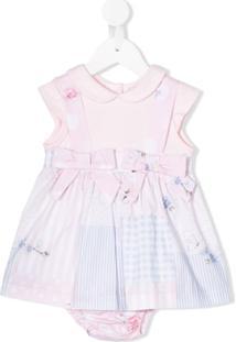Lapin House Vestido Com Mix De Estampas - Rosa