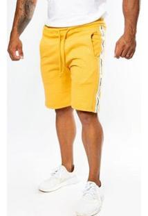 Bermuda Top Fit Advance Deluxe Masculina - Masculino-Mostarda