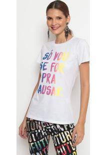 "Camiseta ""Pra Causar""- Branca & Azul- Coca-Colacoca-Cola"