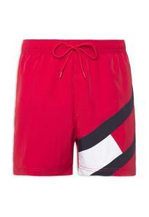 Bermuda Masculina Medium Drawstring - Vermelho