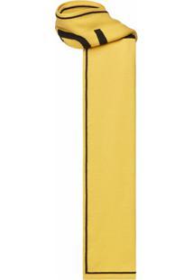 Fendi Cachecol De Lã Com Padronagem De Logo - Amarelo