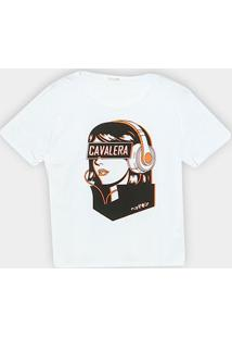 Camiseta Cavalera Headphone Girl Feminina - Feminino-Branco