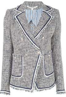 Veronica Beard Jaqueta Slim De Tweed - Azul