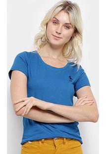 Camiseta Top Moda Bordado Feminina - Feminino