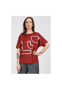 Camiseta Stampo Geométrica Vermelha.