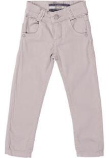 Calça Jeans Infantil Dudy'S Masculina - Masculino-Cinza