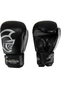Luvas De Boxe Pretorian Elite Training - 16 Oz - Adulto - Preto/Prata