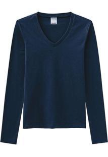 Camiseta Feminina Malwee 1000026292 02023-Azul-Mar